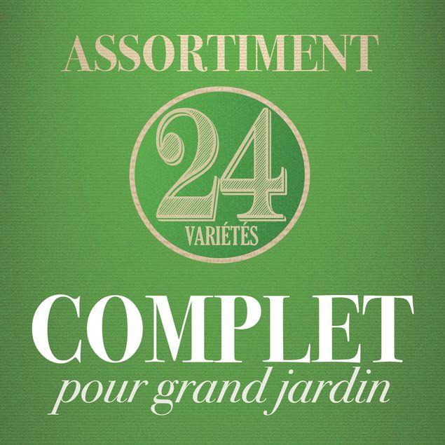 ASSORTIMENT POUR GRAND JARDIN (24 VARIETES)